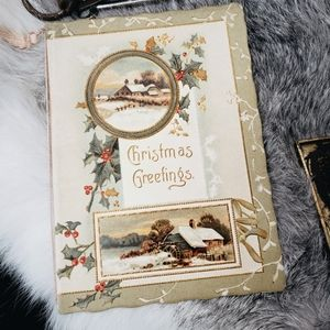 Antique 1800's beautiful Victorian Christmas Card